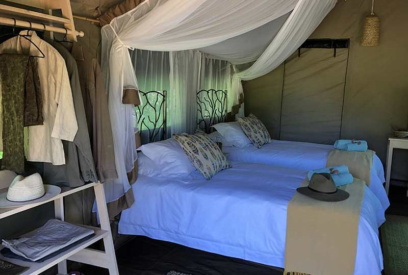 Twin Tented Accommodation Mana Pools